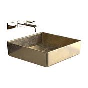 Pert Luxe Vessel Sink, Gold Leaf