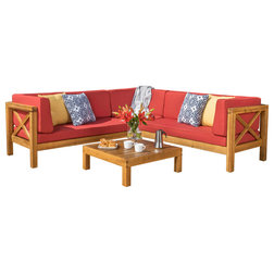 Craftsman Outdoor Lounge Sets by GDFStudio
