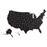 Map of United States Wall Decal, Large - Ideal for homes, kids rooms, and schools.