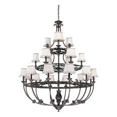 Nuvo Lighting Pickford Distressed Bronze 21-Light Chandelier