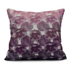 "Beach Clouds, Geometric Print Pillow, Purple, 16""x16"""