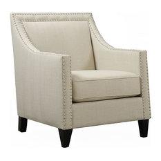 Bridgehampton Accent Chair With Nailhead Trim, Natural