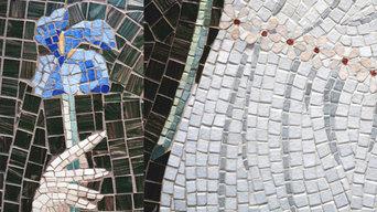 Douche italienne en mosaïque