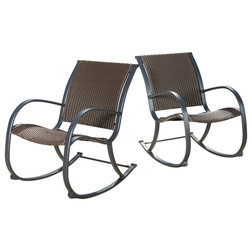 Tropical Outdoor Rocking Chairs by GDFStudio