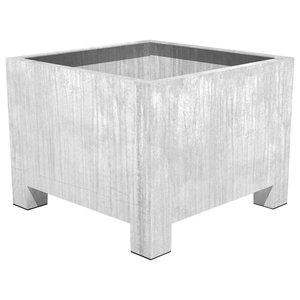 Adezz Galvanized Steel Planter, Vadim Low Cube, 120x120x80cm