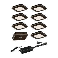 Instalux Linkable LED Bronze Motion Under Cabinet Puck Light 7-pack Kit