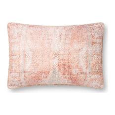 """Loloi P0849 Decorative Throw Pillow, Rust, 16""""x26"""", No Fill"""