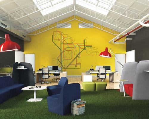 LAS MOBILI - FLAGS - sistema di pannelli, divani e scrivanie per ufficio