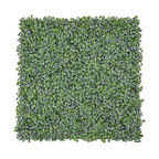 """12-Pieces 20""""x20"""" Artificial Boxwood Hedge Mat Privacy Fence Cable Ties Uv"""