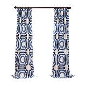 "Mecca Printed Cotton Curtain Single Panel, 50""x84"""