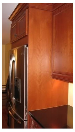 The 26 Finished End Panel Covers Entire Black Side Of Refrigerator Plus Gap Behind Depth Was Determined