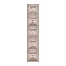 Victorian Panelling Wallpaper, Bleached Oak