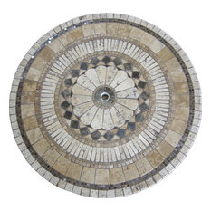 Ascent Mosaic Stone Round Dining Table, 30""