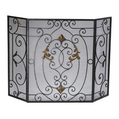 Fire Screen CYAN DESIGN FRENCH Gold Accents