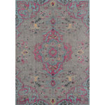 """Momeni - Momeni Jewel JW-02 Area Rug, Gray, 7'10""""x9'10"""" - A rug gripper or rug pad is recommended to prevent shifting or slipping. Vacuum Regularly with suction only, suitable for all interior residential space."""