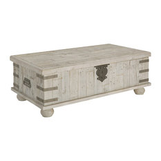 Carynhurst Casual White Wash Gray Lift Top Cocktail Table