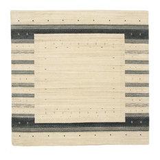 "Loom Gabbeh Lori Rug Oriental Rug 6'10""x6'9"", Square, India Hand-knotted Modern"