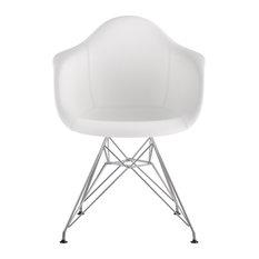 Mid Century Eiffel Arm Chair Milano White
