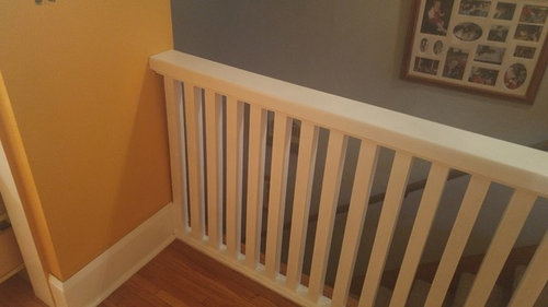 Best Color To Complement Mod Yellow In A Dark Stairwell