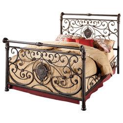 Mediterranean Panel Beds by Hillsdale Furniture