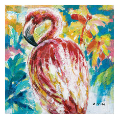 """The Colorful Flamingo"" Canvas Art, 30""x30"""
