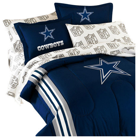 NFL   5pc NFL Dallas Cowboys Striped Twin Bedding Collection   Comforters  And Comforter Sets. NFL Dallas Cowboys Bedding and Room Decorations