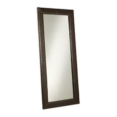 Abbyson Living Delano Leather Floor Mirror, Brown
