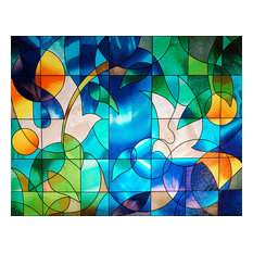 Dove Stained Glass Window Film