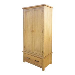 vidaXL Wardrobe With 1-Drawer, Oak, 90x52x183 cm