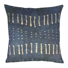 Distressed Indigo Pillow