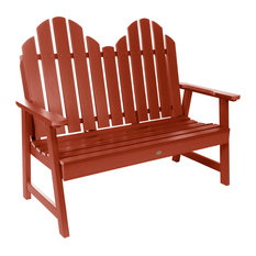 Classic Westport Garden Bench, 4', Rustic Red