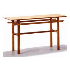 Greenington LLC   Greenington Lotus Console Table In Classic Bamboo   Console  Tables