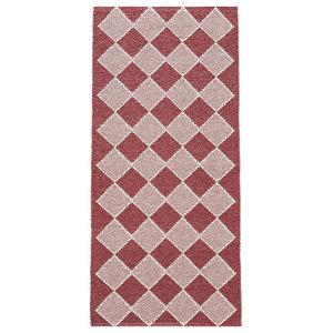 Dialog Woven Vinyl Floor Cloth, Red, 150x200 cm