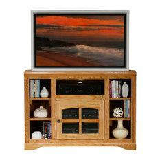 Eagle Furniture Oak Ridge 45-inch Thin Corner TV Cart Dark Oak