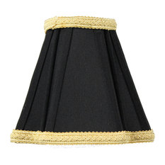 home concept black with gold liner chandelier clip on premium lampshade 2x5 black fabric lighting