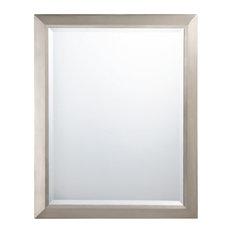 Brushed Nickel Wall Mirror brushed nickel wall mirrors | houzz