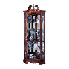 Berkshire Swan Neck Curio Cabinet, Winsor Cherry