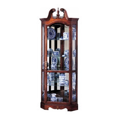 Howard Miller   Berkshire Swan Neck Curio Cabinet, Winsor Cherry   China  Cabinets And Hutches