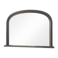 Contemporary Overmantle Wall Mirror, Dark Grey, 75x110 cm