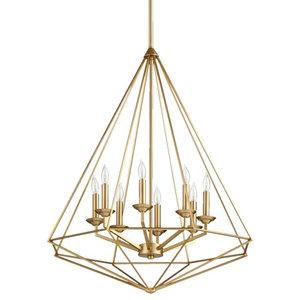 8311-8-80 Bennett Transitional Light Pendant, Aged Brass