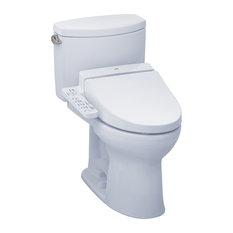 Toto Drake II WASHLET+ C100 Two-Piece Toilet MW4542034CEFG#01 Cotton White