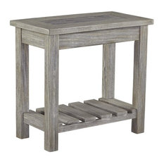 Ashley Furniture Homestore   Ashley Veldar End Table, Whitewash   Side  Tables And End Tables