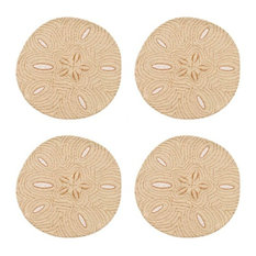 Ocean Beach Coastal Sand Dollar Cloth Dining Placemats Set of 4
