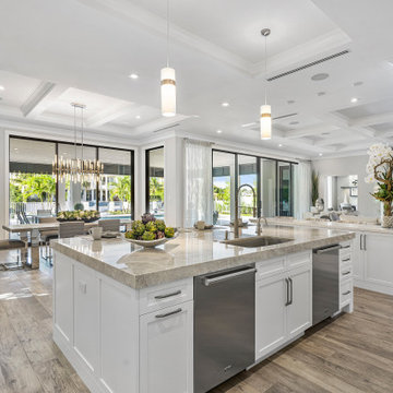 Boca Raton Waterfront Home | 6 Bed/7.2 Bath/12,000  Sq Ft by Interiors by Brown