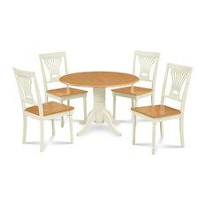 5 Piece Burlington Dining Room Set With Drop Leaf Table