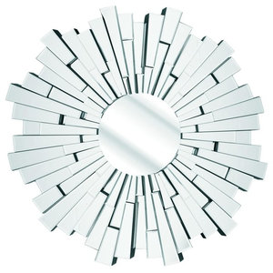 Overlapped Art Deco Circular Wall Mirror, 100 cm