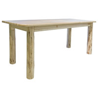 Montana Collection 4 Post Dining Table, Clear Lacquer Finish