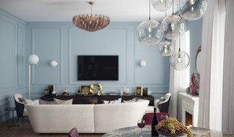 ЖК «Донской Олимп». Дизайн гостиной в парижском стиле