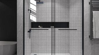 Laminated glass shower door