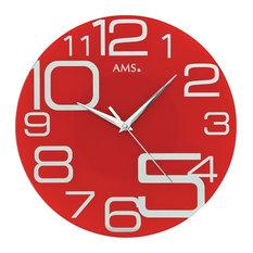 Sachi Quartz Wall Clock, Red